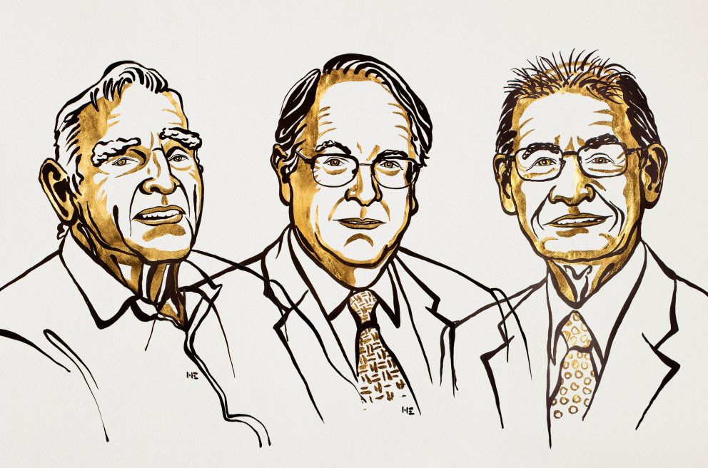 Illustration of the three Nobel prize in chemistry winners.